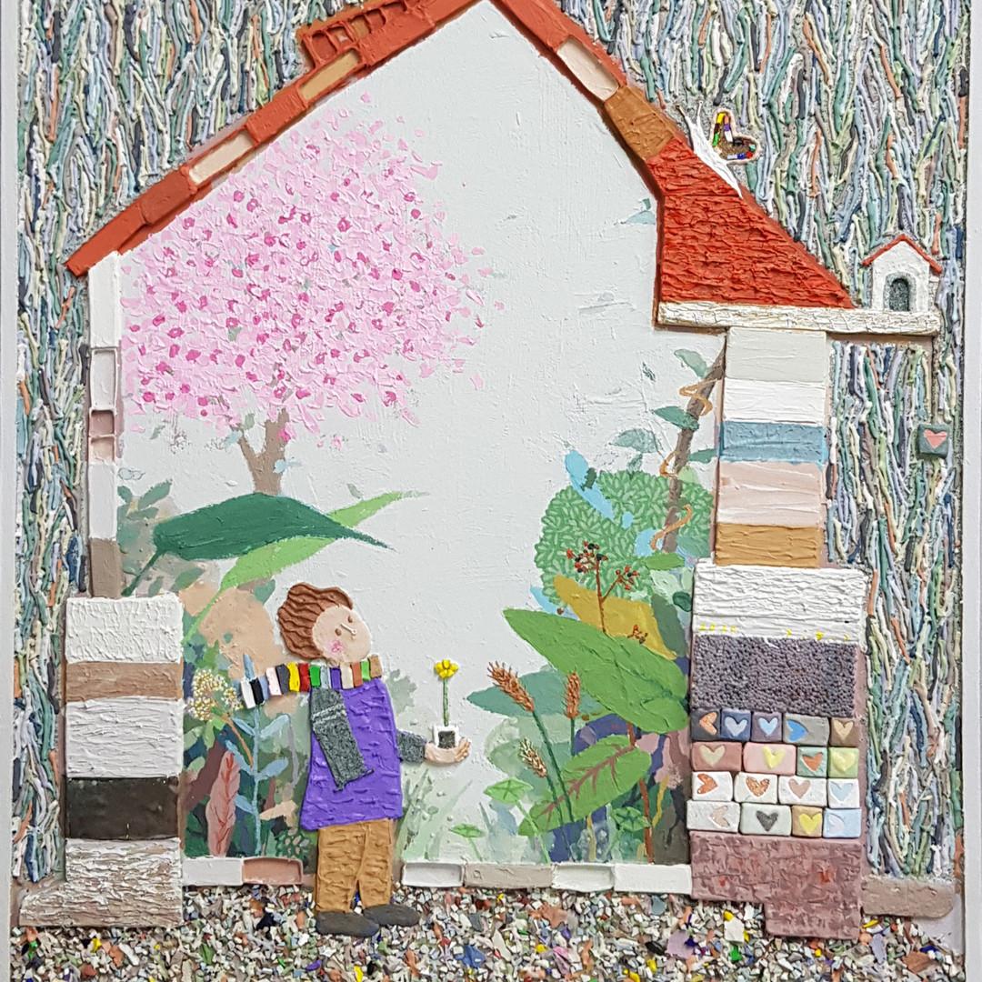 015, 김형길, 제일이라20, 72.7 x 60.6 cm, 캔버스 위에