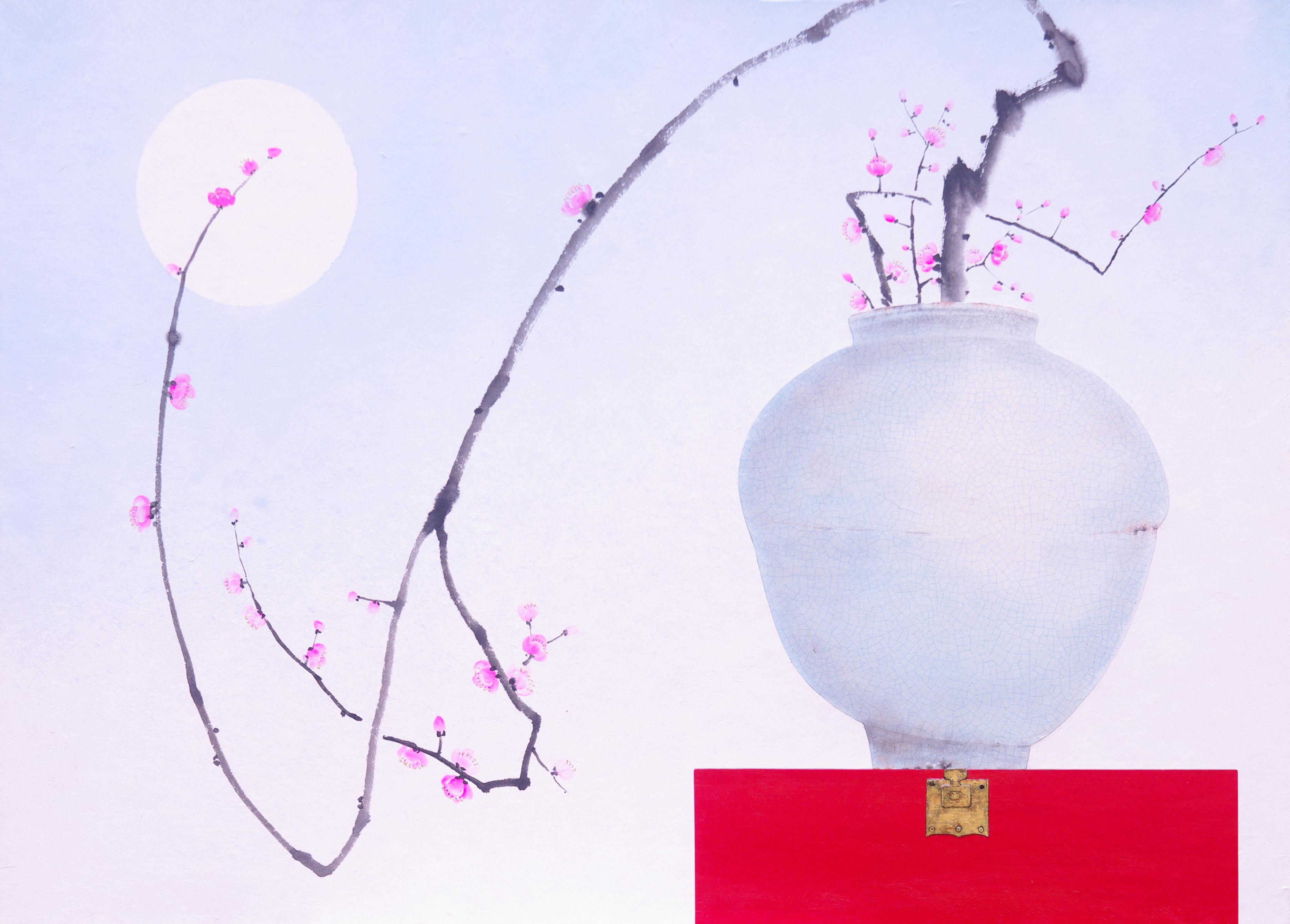 2016,비움과채움(복을담다),91x65.5,혼합재료