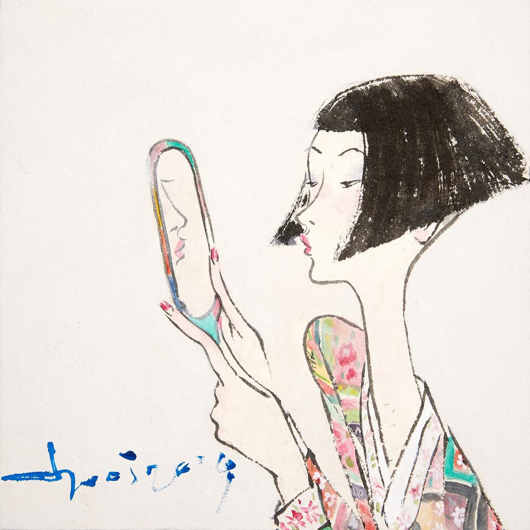 011. 최경자, Alpha Girl 1935, 20 x 20 cm, 한