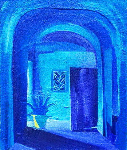 018, 민해정수5, 푸른 공기와 실바람 (8F), 37.9 x 45