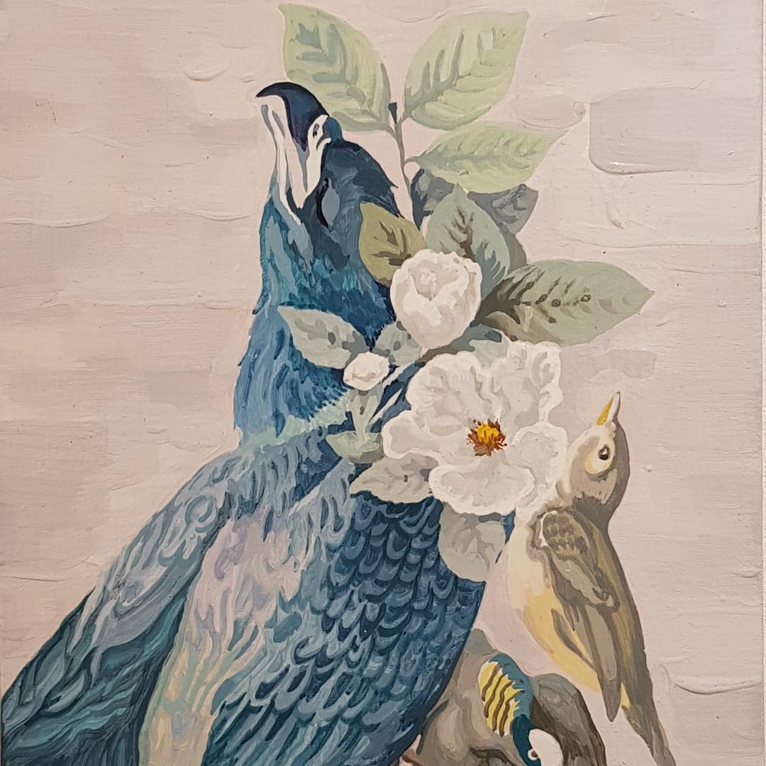 027, 박계숙, 나르시스의 정원-19, 23 x 34 cm, 캔버스에
