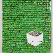 018, 김형길, 선물상자, 53.0 x 45.5 cm, 캔버스 위에 혼