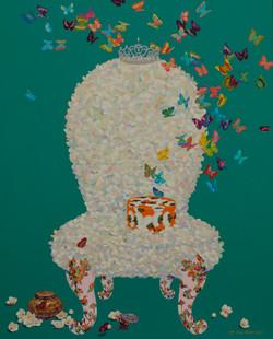 요술 꽃 의자 162x130.3cm Acrylic on canvas 2018