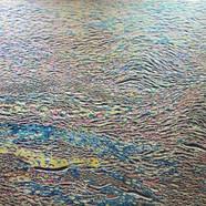 002, 김재신, 바다, 145 x 97 cm (80호), 나무판 위에 색 조각, 2019, 3200만원