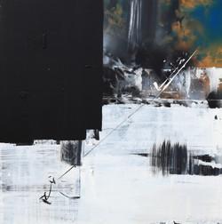 연상록, 숲, 빛, 바람의 숨결, 73x73cm, mixed material, 2015