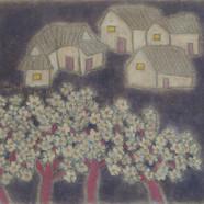 조수정2, 마을엔 항상 이야기 꽃이 핀다, 76 x 61 cm (23호)
