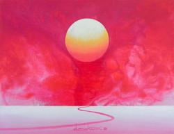 日出-信望愛, 40.9x31.8cm, Acrylic on canvas,2015