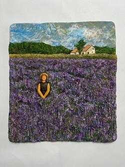 011, 이지숙, 찰나-꽃대마을, 58 x 54 x 6 cm, 테라코타