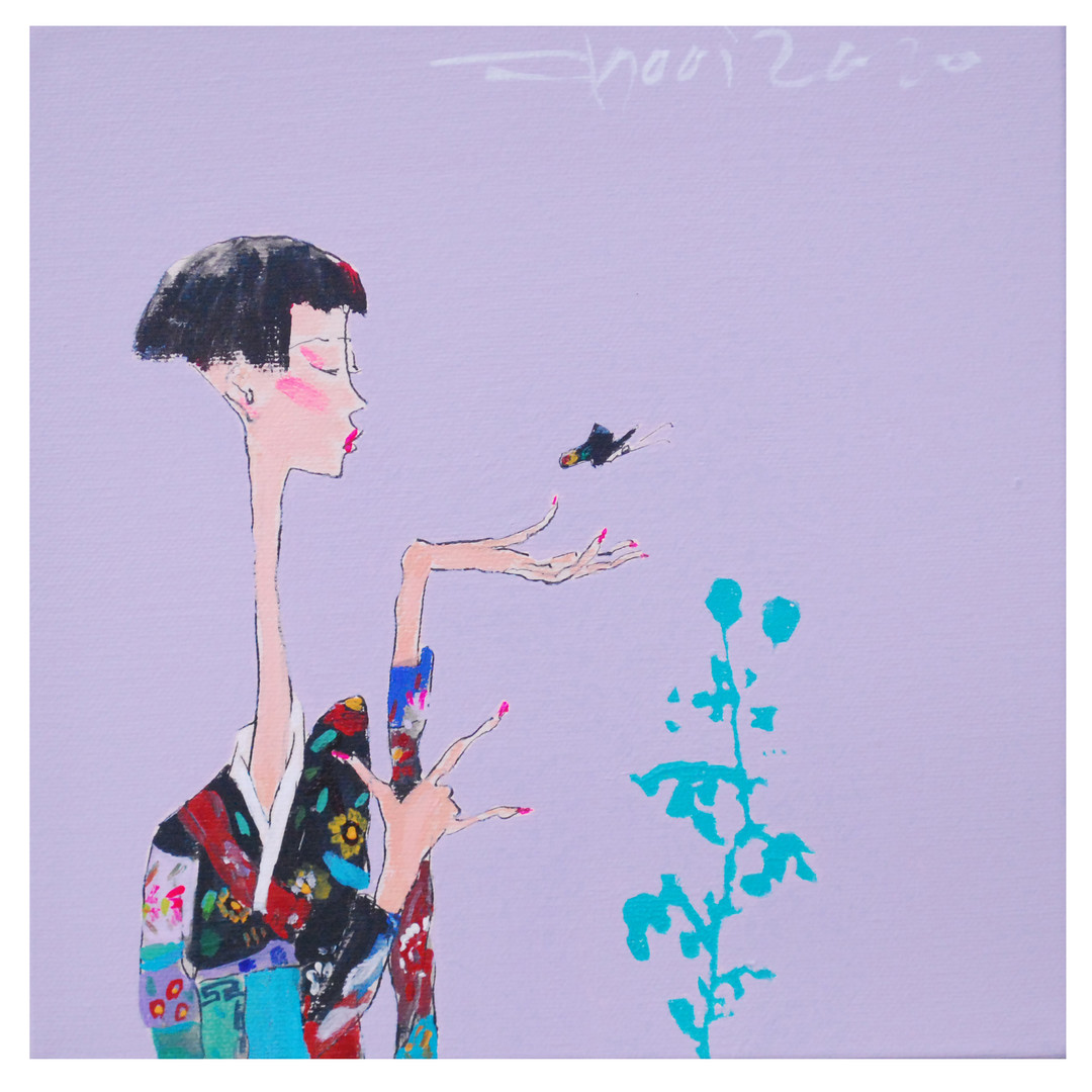 019, neo_alpha girl 2040, 20 x 20 cm, 캔버
