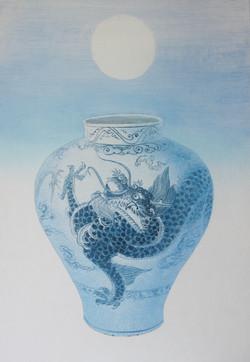 016 비움과 채움(龍의夢), 91 x 117 cm, 한지에 혼합재료,
