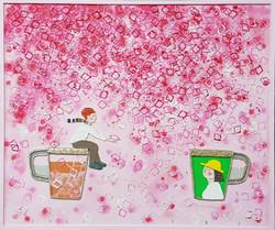 023, 김형길, 제일이라 210527, 60.6 x 72.7 cm, 캔버스에 혼합재료, 2021, 600만원