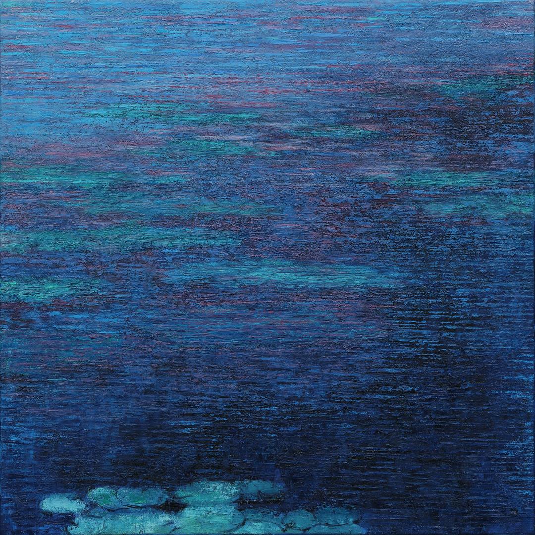 009, 이미경, 수련 이야기, 50 x 50 cm (8호정방형), Oi