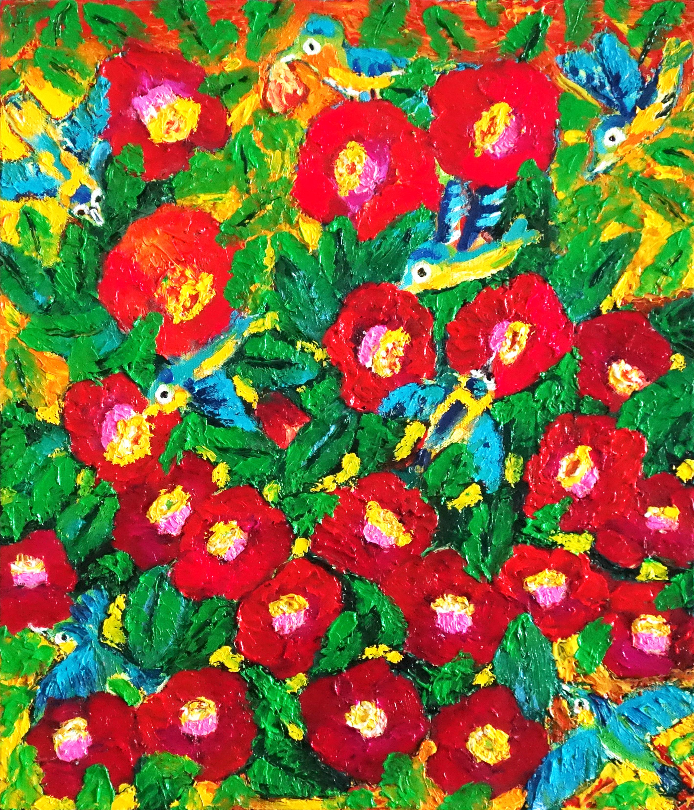 민해정수3, 동박새의 순정, 45.5 x 53