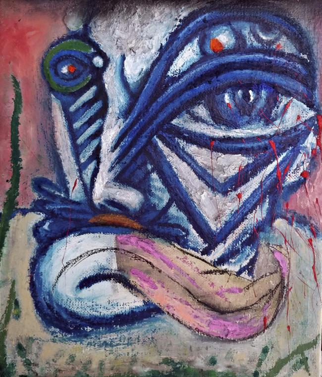 최우 1 Thirsty Van Gogh, 53.0cm x 45