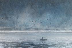 이미경, 우포늪 이야기ㅡ흐르는 시간, 60.6×40.9cm, Oil on Canvas, 2017