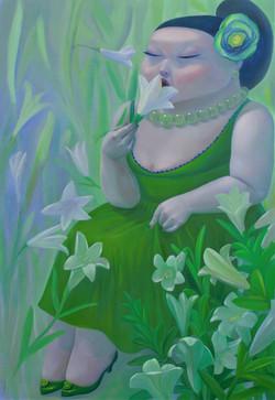 그녀의 정원 80.5x117 oil on canvas 2019
