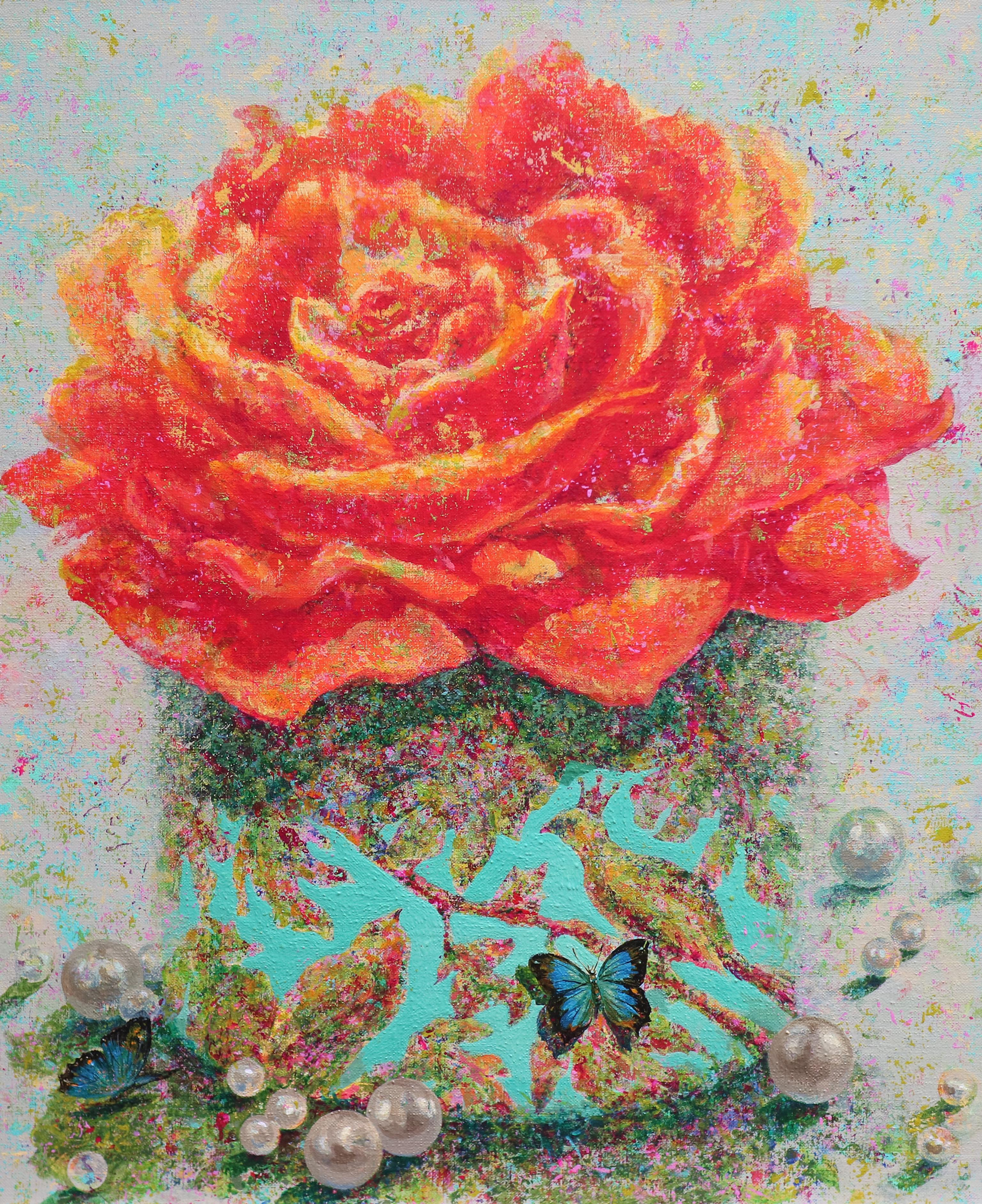 황미정, 그녀는 꽃 입니다, 60.6x 72.7cm, Acrylic on canvas, 2016