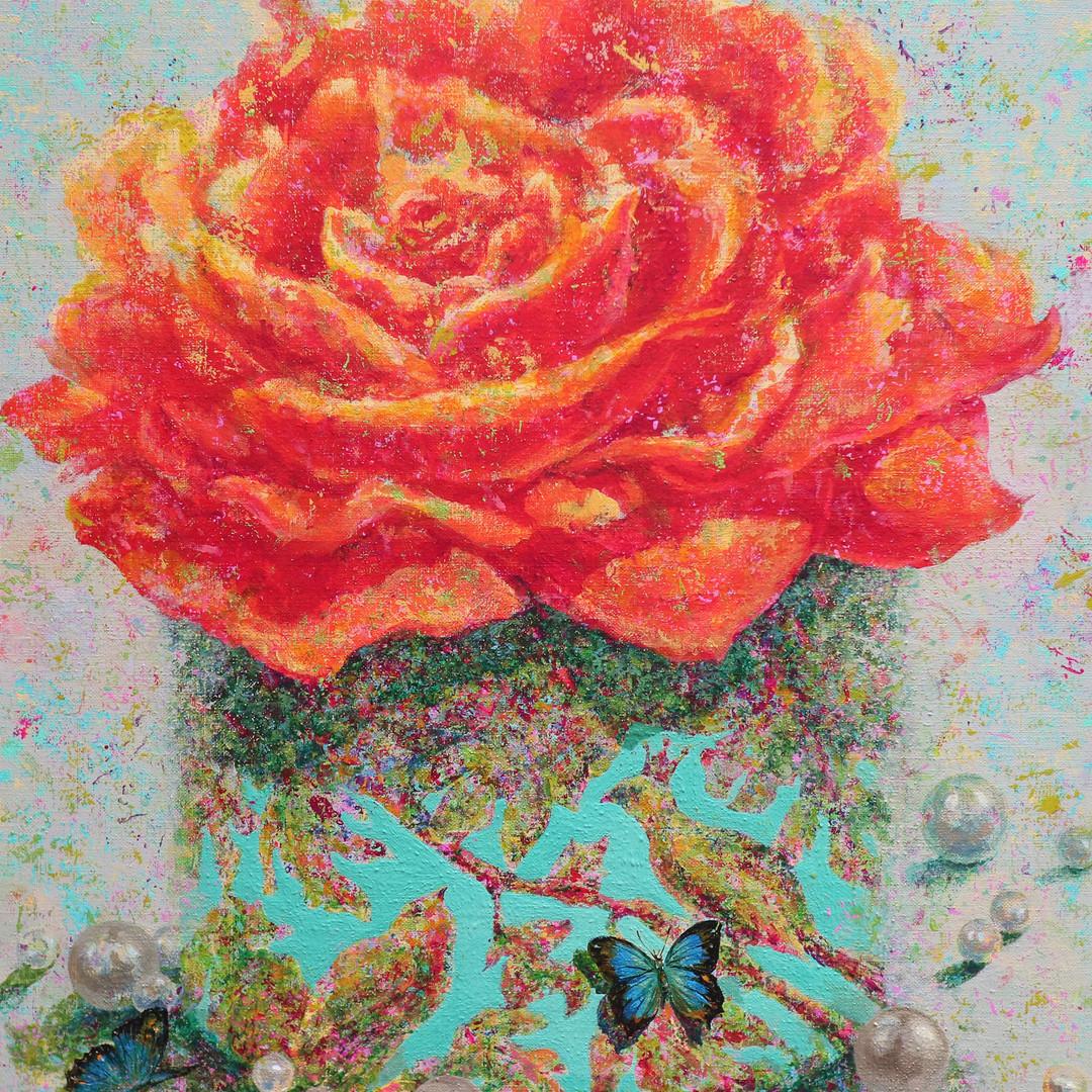 003, 그녀는 꽃 입니다 60.6 x 72.7cm Acrylic on