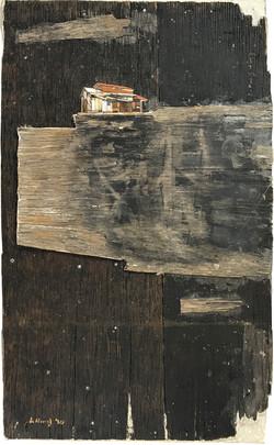 013, 이부강, 꿈꾸는섬(정미소), 37 x 60 cm, mixed m