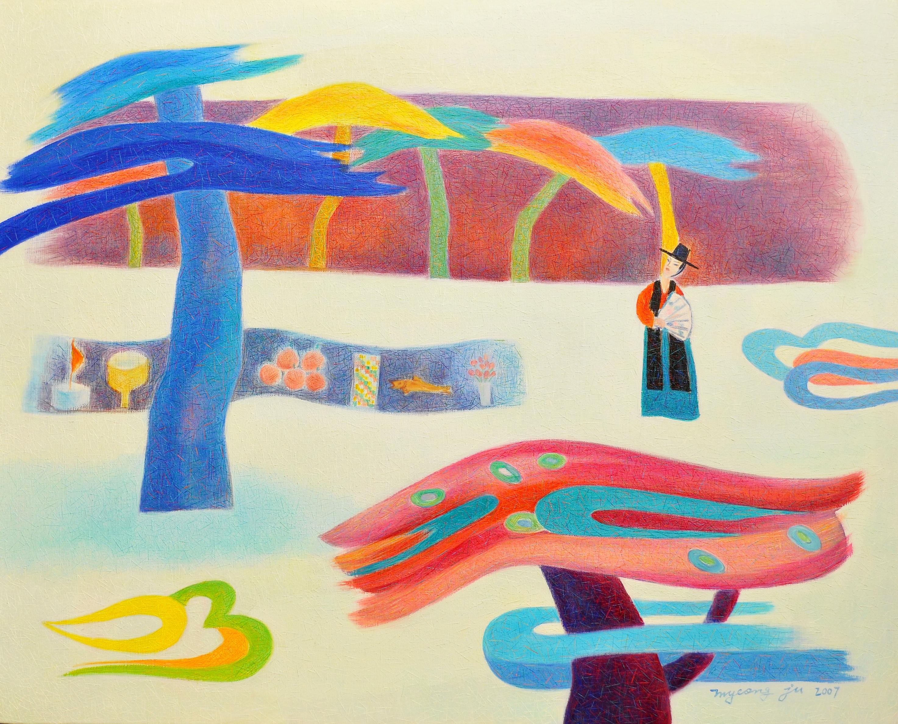 shamanism -그 기억속에 내가 있었네 90.9×72.7cm oil on canvas 2007