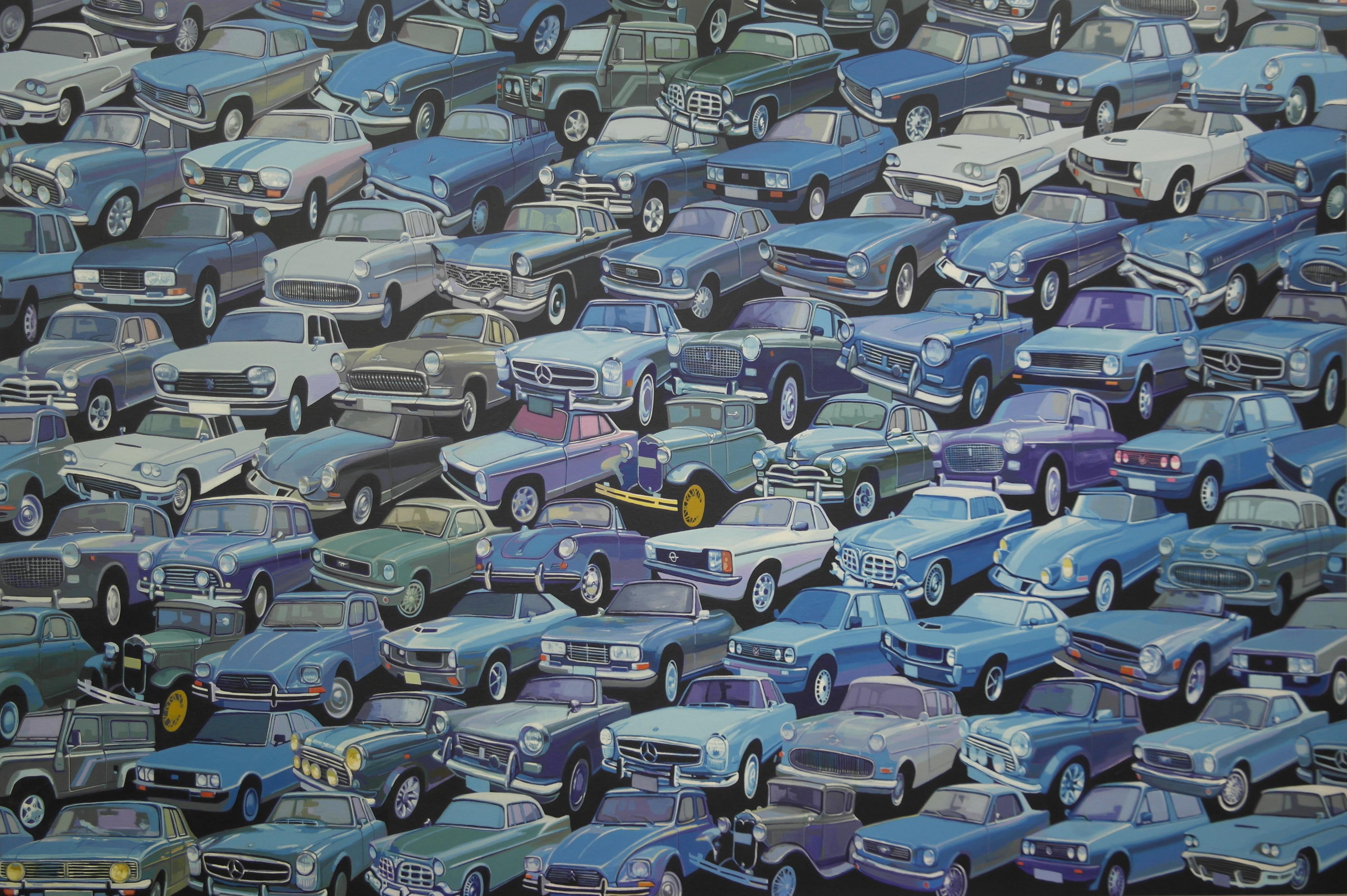 김인, car,our 20th century,193 x 130 cm, 캔
