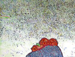 023, 김재신, 동피랑이야기, 41 x 53 cm(10호), 나무판 위