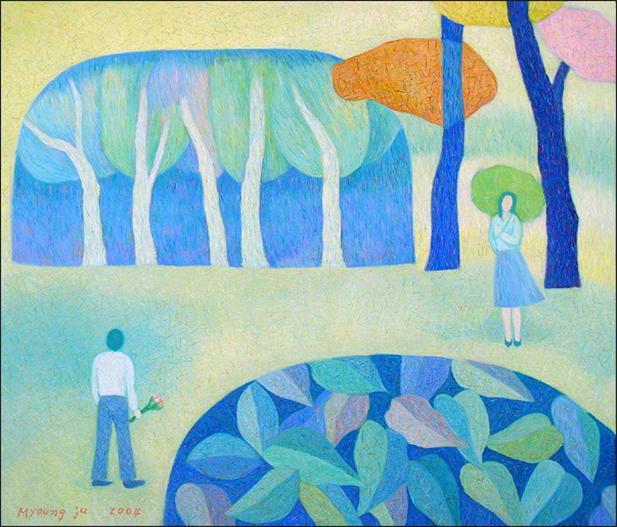연인.53 × 45.5.oil on canvas.2004