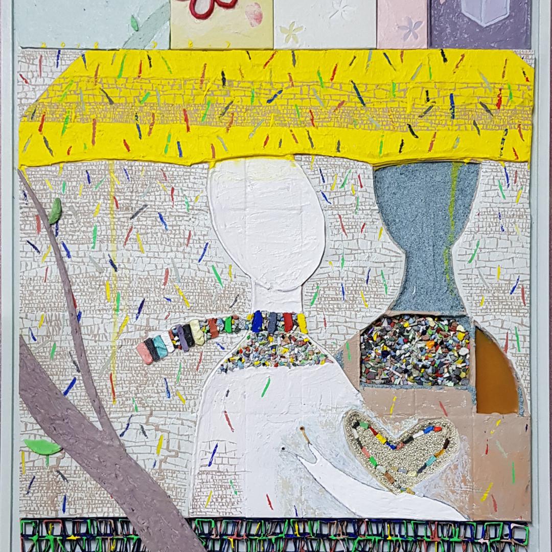 005, 김형길, 제일이라18, 72.7 x 53.0 cm, 캔버스 위에