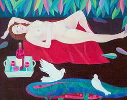 와인피크닉.90.9×72.7.oil on canvas.2011