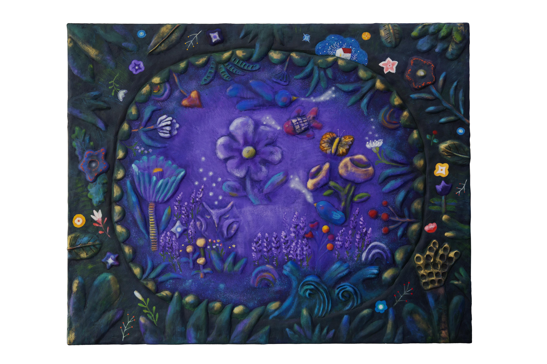 025, 구채연, 꽃그늘 아래, 72.7 x 90