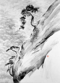 송뢰, 100x72.2cm, Muk on HanJi, 2016