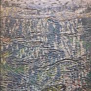 003, 김재신, 바다, 53 x 73 cm (20호), 나무판 위에 색 조각, 2019, 800만원