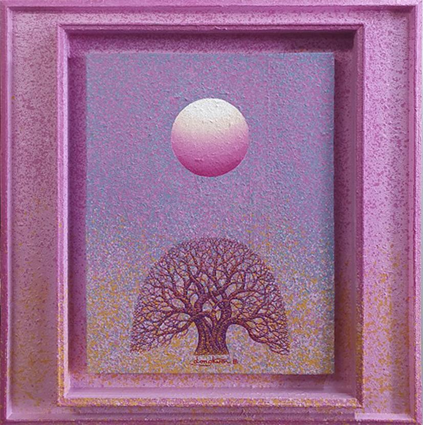 신동권2, 일출-신망애, 60 x 60 cm, 목판 위에 아크릴, 202