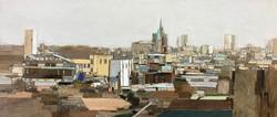 이부강3, trace skyline(지동), 30 x 70 cm, mix