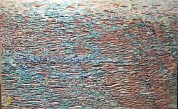 011, 김재신, 바다, 98 x 61 cm (30호), 나무판 위에 색