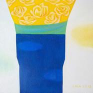 002, 차명주, 노란 장미, 53.0 × 45.5 cm, oil on