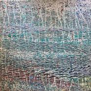 015, 김재신, 바다, 145 x 97 cm (80호), 나무판 위에 색 조각, 2019, 3200만원