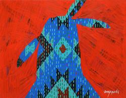 001, 최윤희, Mind map 21-20, 32 x 41 cm, 캔버스에 아크릴, 색동천, 2021, 100만원