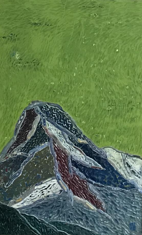 김재신(1-3), 산, 61 x 98cm, 조탁기법