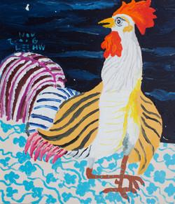 놀램,  53x45.5cm, Acrylic on canvas, 2016