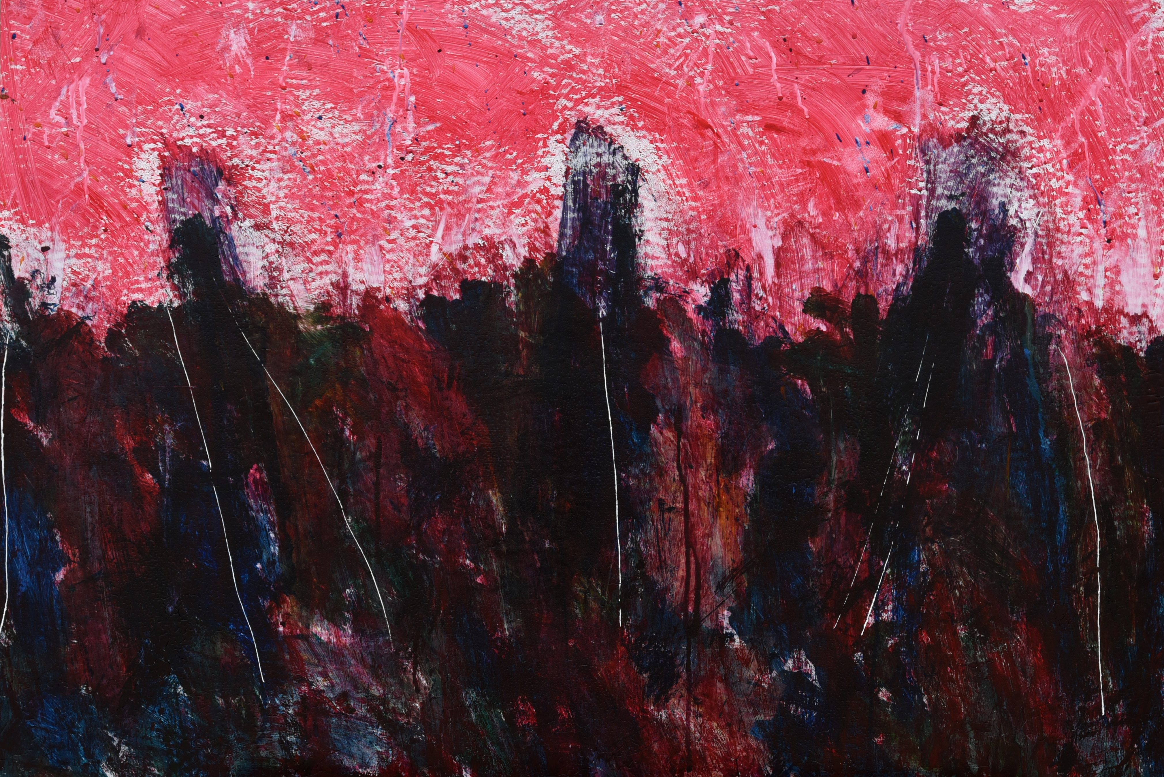 016, 정의철, 붉은 풍경, 90.9 x 60