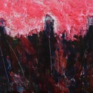 016, 정의철, 붉은 풍경, 90.9 x 60.6 cm, 판넬 위에 아