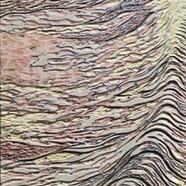 006, 김재신, 파도, 25.0 x 72.5 cm (8호), 나무판 위에 색 조각, 2019, 320만원