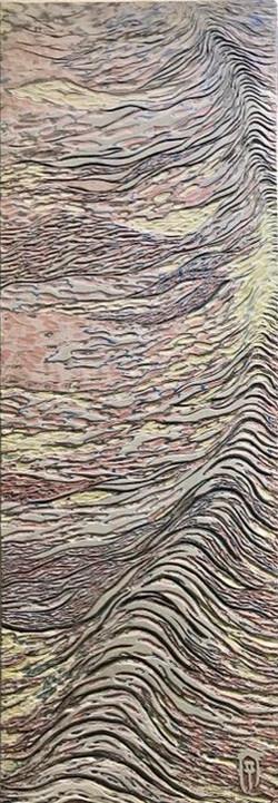 006, 김재신, 파도, 25.0 x 72