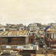 002, 이부강, trace skyline (지동), 91 x 91 cm