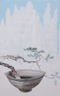 오관진, 비움과 채움(설악에서 금강산을 꿈꾸다), 54.0 x 33