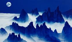 조광기1, 설악산, 45 x 27 cm, Acrylic on canvas