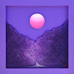 004 Sunrise - Faith , Hope. and. Love, 60x60cm, Acrylic on Wood, 2018