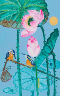 민해정수2, 연꽃, 53.0 x 33