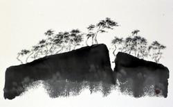 형제섬2, 53.3x35cm, 화선지에 수묵, 2016